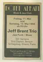 The Jeff Brent Trio May 1984 Hotel Albani Winterthur Switzerland